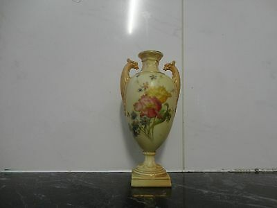 Antique Royal Worcester Antique Vase Peacock Handles