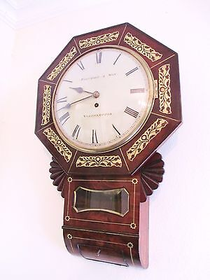 Whitmore Northampton Regency Inlaid Wall Clock Superb and Original