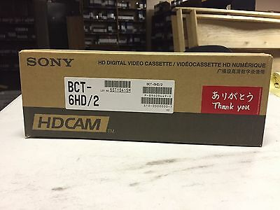 Sony BCT-6HD HDCam Tapes - New Box of 10