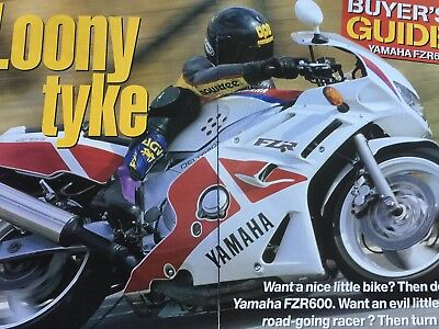 "Yamaha Fzr600 - Original 6 Page ""buyers Guide"" Motorcycle Article"