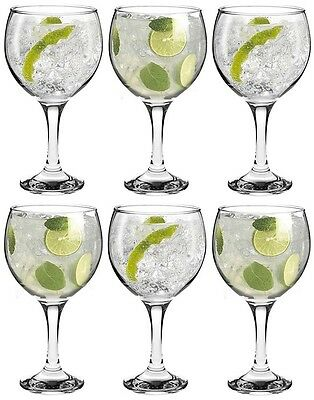 Cocktail Glasses Set Of 6 New Wine Gin And Tonic Balloon Glass Drinks Party Gift