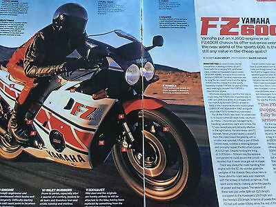 "Yamaha Fz600 ""buyers Guide"" - Original 4 Page Motorcycle Article"