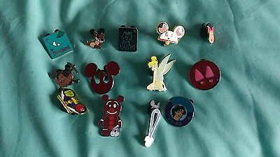 DISNEY Trading Pin Lot of 13 Assorted Pins NO DOUBLES 100% tradable