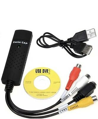 Easycap USB 2.0 TV Video Audio VHS to DVD HDD Converter Capture Card Adapter