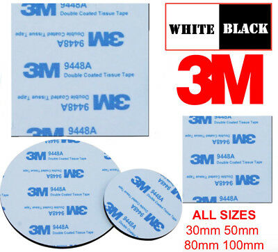 Double Sided Foam Sticky Pads 3M FOAM PADS BLACK WHITE Strong Acrylic Large