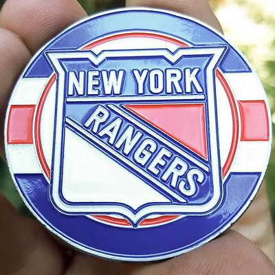 PREMIUM NHL New York Rangers Card Protector Golf Marker Collector Coin