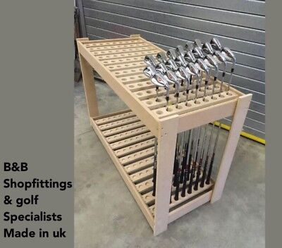Golf Club Shop Retail Display Bunkbed Stand Holds 108 Golf Clubs Fully Assembled