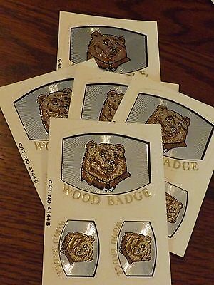 Boy Scout Decal / Sticker Wood Badge Bear Lot Of 5