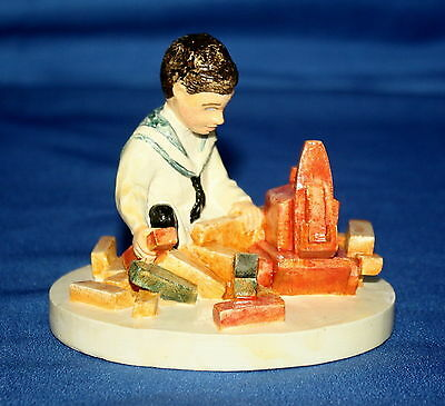 Sebastian Miniatures Building Days Boy Numbered Figurine