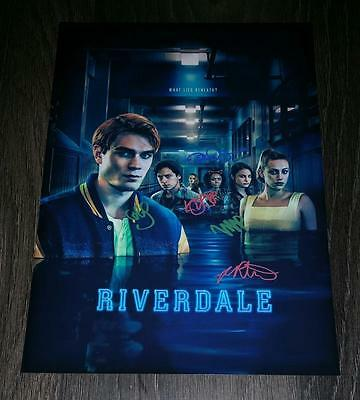 "Riverdale Pp Signed 12X8"" A4 Photo Poster Kj Apa Ashleigh Murray Cole Sprouse S2"