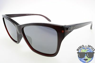 Oakley Women's Sunglasses OO9298-04 HOLD ON Frosted Rhone/Black Iridium Lens