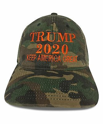 2020 Camo Trump Maga Embroidery Flexfit Hat Choose Your Size Free Shipping ee8791d7ca11
