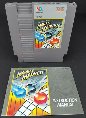 Marble Madness (Nintendo Entertainment System, 1989) NES Cartridge w/ Manual