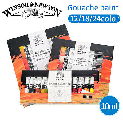 Gouache Paint Set 12 Colors Tube Paints Pigment For Artist School Painting Tool
