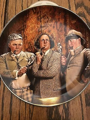 2 The Three Stooges Collector Plates: Elementary, My Dear Moe and Rub-a-dub-dub