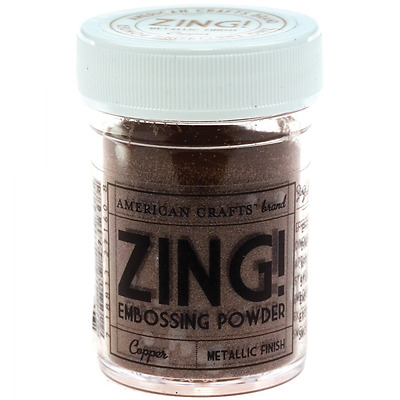 American Crafts Zing Metallic Embossing Powder 1-Ounce, Copper