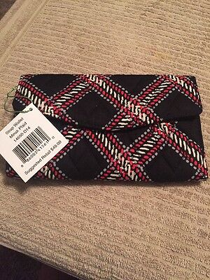 Vera Bradley New With Tags Strap Wallet Minsk Plaid