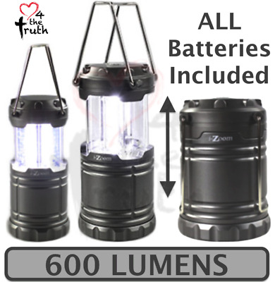Tac Lantern 600 LUMENS Light Beam Lamp COB LED Atomic Portable Storm Emergency