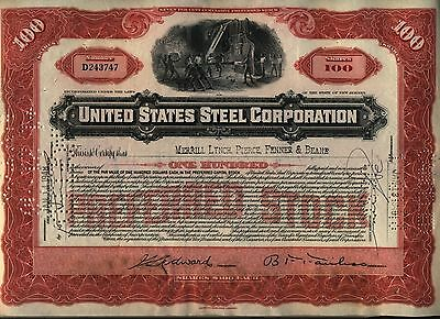 United States Steel Corporation Stock Certificate US Red