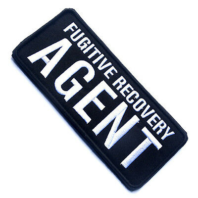 Fugitive Recovery Agent 3D U.s. Army Tactical Morale Badge Embroidered Patch #02