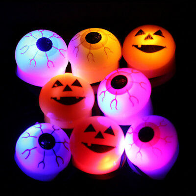 Unisex luce LED A bulbo oculare Zucche Luminoso Flash Ring Halloween Gioie