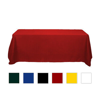 320x225cm 6ft Economical Rectangular Solid Color Table Throw for Trade show