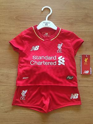 Liverpool New Balance Toddler 3-6 Months Bnwt Full Kit Shirt Jersey Shorts Socks