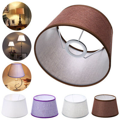 Home Cotton Textured Fabric PVC Linen Shade Room Table Ceiling Lamp Shade NEW