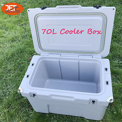 70L (74QT) Jetocean Ice Beer Cooler box for Food Storage Grey heavy duty