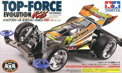 Tamiya 18076 1/32 Mini 4WD VS Chassis JR Top Force Evolution RS Junior Kit