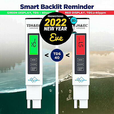 Digital TDS EC Meter Water Quality Tester with 0-9990 ppm Measurement Range