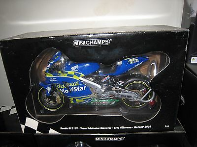 1:6 Minichamps BIKE Honda RC211V Nr.15 Sete Gibernau 2003 Team Movistar RARE NEW