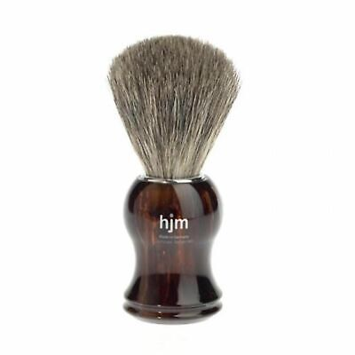 NEW MUHLE HJM SHAVING BRUSH PURE BADGER PLASTIC TORTOISESHELL Razor Hair Stand