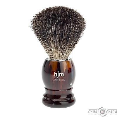 NEW MUHLE HJM SHAVING BRUSH PURE TORTOISESHELL Badger Razor Hair Stand Germany