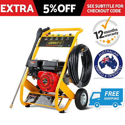 High Pressure Washer Cleaner 8HP 4800PSI   Petrol Water Gurney 20M Hose Cleaner