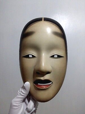 Rare Japanese Handmade Theater Noh Mask Exceptional Beauty Museum Quality