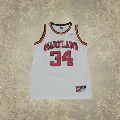 #34 Maryland University Len Bias Terrapins College Basketball Jersey White