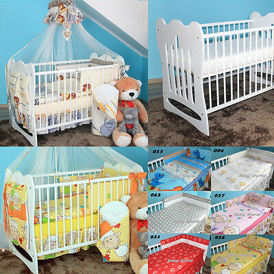 COMPLETE NUERSY BEDDING SET UP TO 15-PCS BABY MAYA COT 120x60 MATTRESS OPTIONS