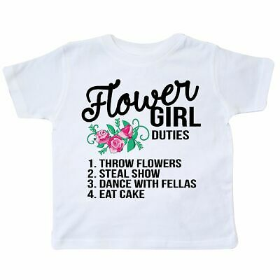 Inktastic Flower Girl Wedding Duties Toddler T-Shirt Spring Petal Patrol Getting