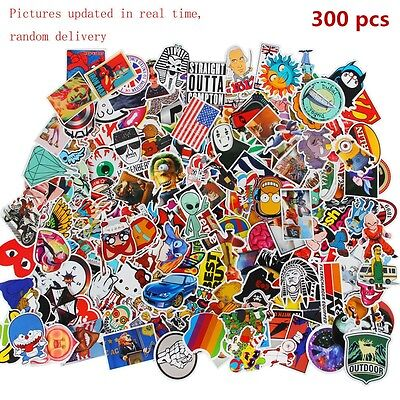 300 x random vinyl decal graffiti sticker bomb laptop waterproof stickers skate