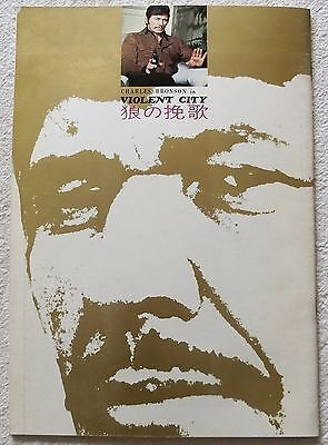 VOILENT CITY CITTA VIOLENTA MOVIE PROGRAM BOOK 1970 Charles Bronson RARE JAPAN