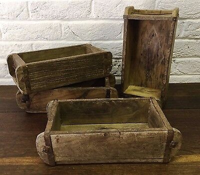 Vintage Naturally Aged/Rustic Wooden Brick Mould *Small Storage Box/Shelf/Crate