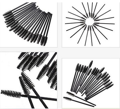 10/20/50/100/200pc Disposable Mascara Wands Eyelash Brush Applicator Extension