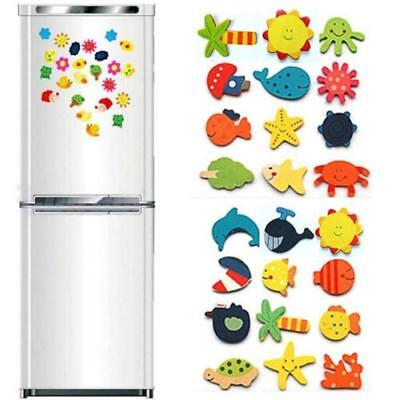 24PCS Lovely Creative Cute Animal Wooden Fridge Magnet Sticker Refrigerator Toys