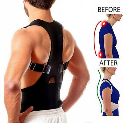 Magnetic Neoprene Posture Support Lumbar Shoulder Belt Brace Corrector Therapy