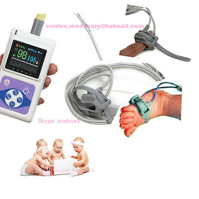 Neonatal Infant Pediatric Kids Pulse Oximeter Spo2 Monitor 24 Hour PC Software