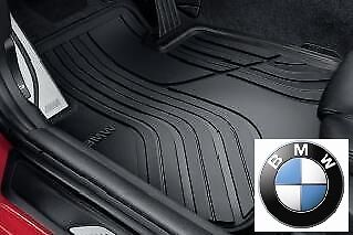 BMW Genuine All-Weather Rubber Front & Rear Car Floor Mats Set Black F20