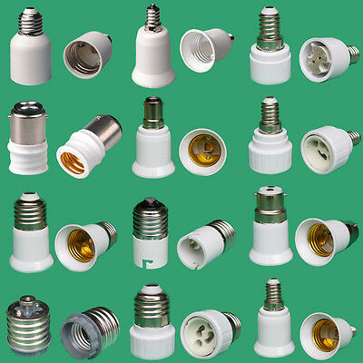 30+Types Light Socket Adaptor BC B22 B15 ES E27 E14 E12 E40 GU10 G24 MR16 Holder