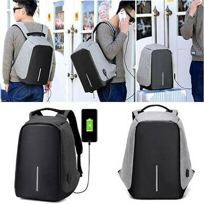 Anti-Theft Waterproof Backpack USB Port Travel laptop School Bag Multi-function
