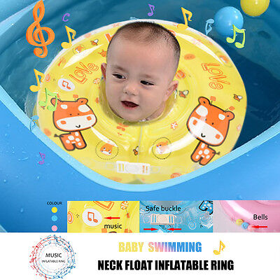 Newborn Baby Infant Child Swimming Music Float Inflatable Ring Adjustable Safety